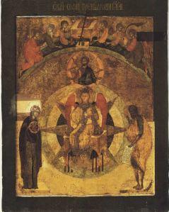 Sofia afbilledet på en ikon i katedralen i Novgorod fra ca. år 1000.